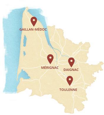 Map boucheries girondines